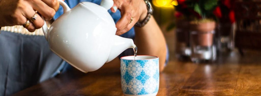 groene thee opgieten